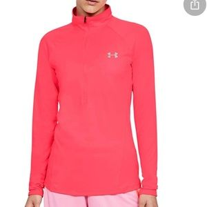Under Armour pink zip pullover